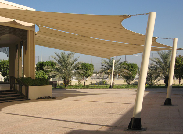 Shade Sail Installation With Commercial 95 Wp